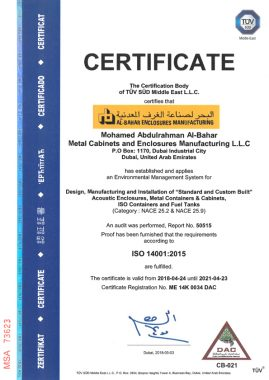 iso14001 269x380 - Awards and Certifications