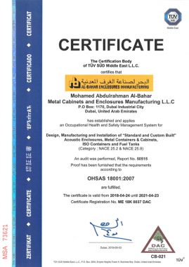 iso18001 269x380 - Awards and Certifications